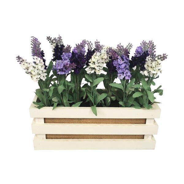 Lavender Floral Arrangement in Pot by August Grove