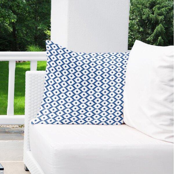 Ginnie Cotton Indoor/Outdoor Geometric Euro Pillow