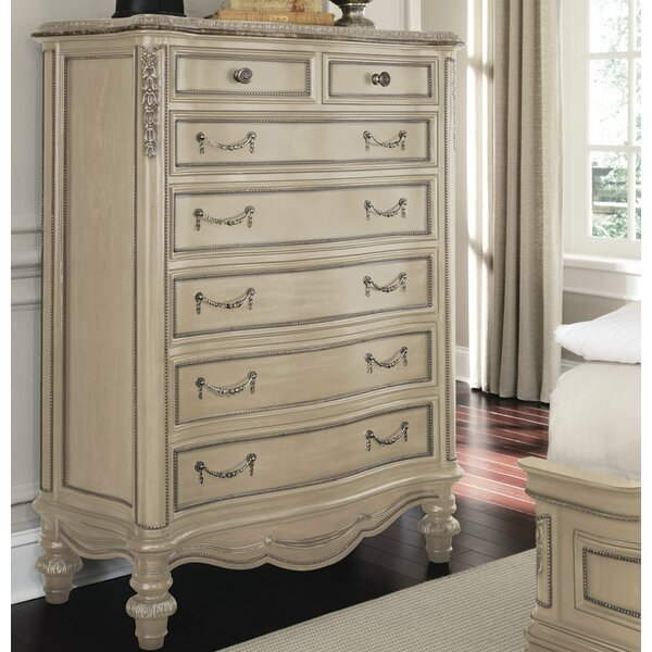 Westley Parchment 7 Drawer Chest by Astoria Grand