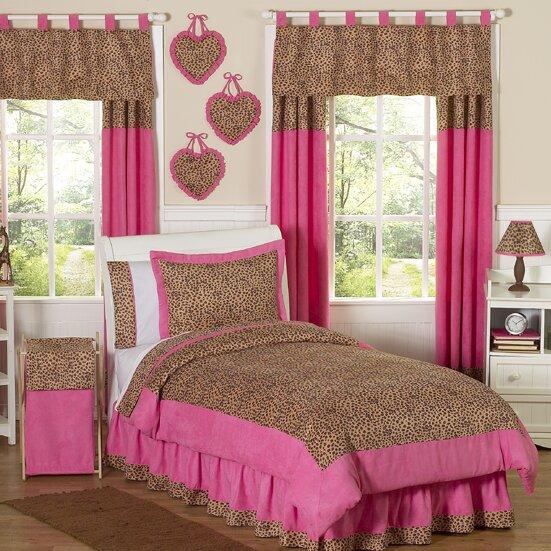 Cheetah Pink 4 Piece Twin Comforter Set by Sweet Jojo Designs
