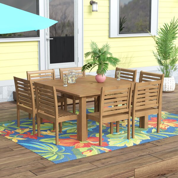 Flinn 9 Piece Dining Set by Beachcrest Home