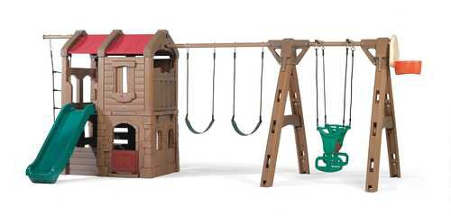 88.5 x 201 Adventure Lodge Play Center Swing Set by Step2