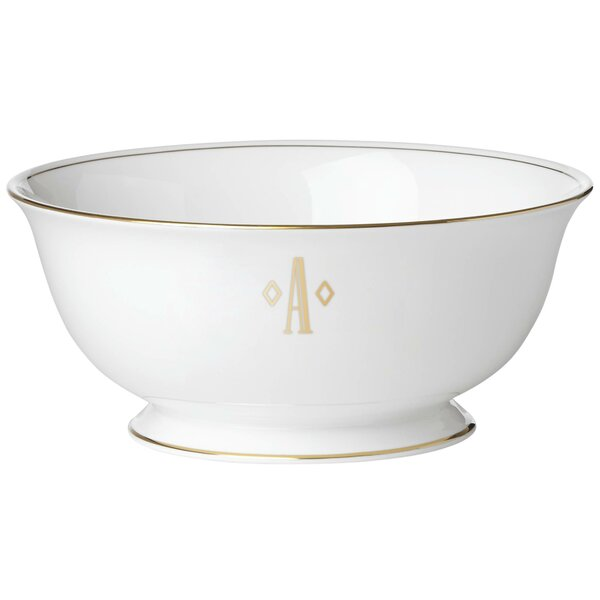Federal Gold Monogram Block Serving Bowl by Lenox