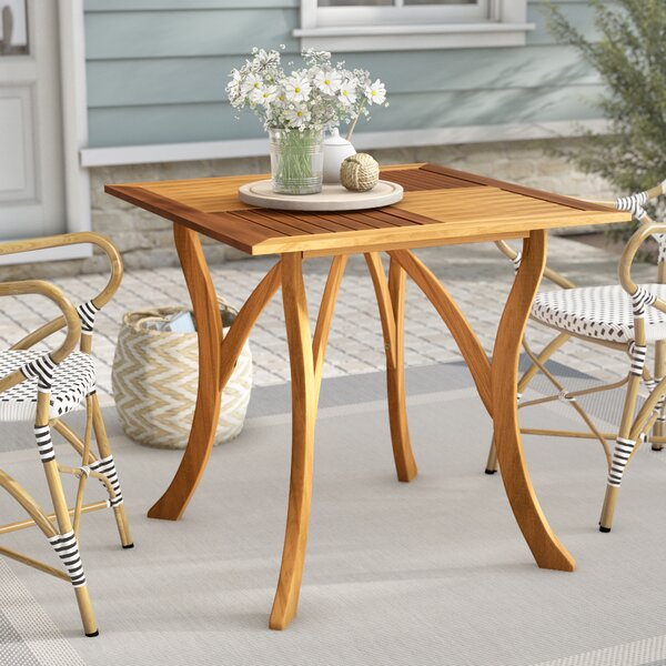 Coyne Teak Dining Table by Beachcrest Home