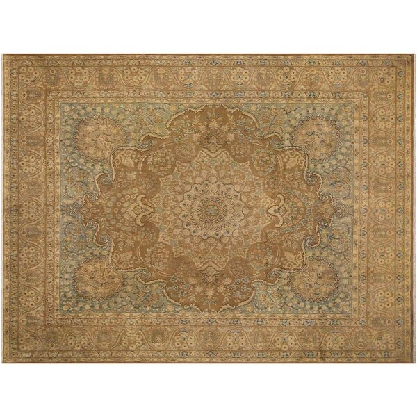 Barkhampstead Hand-Knotted Wool Brown Area Rug by Bloomsbury Market