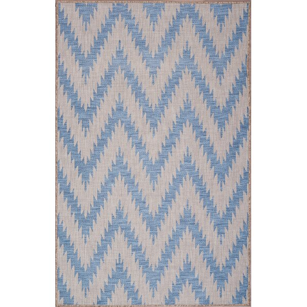 Annie Ivory/Blue Indoor/Outdoor Area Rug by Union Rustic