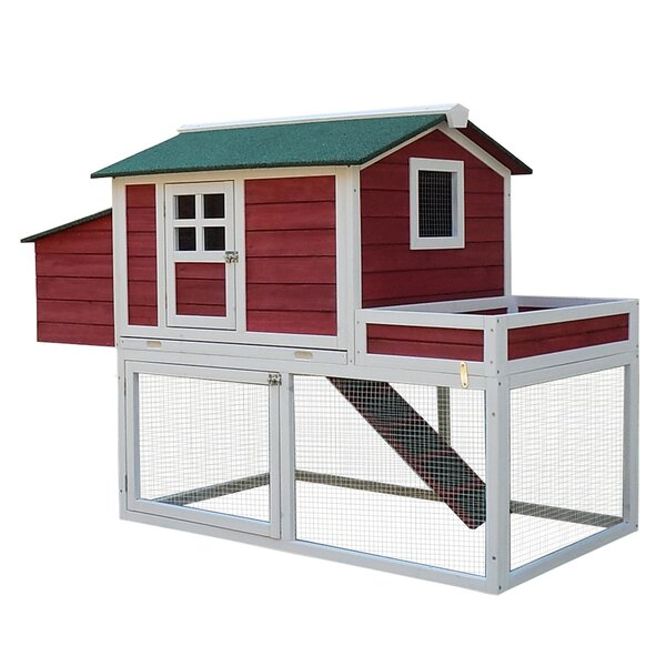 Basil Chicken Coop with Run Area and Nesting Box b