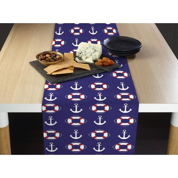 Eslinger Nautical Anchors and Life Savers Milliken Signature Table Runner by Breakwater Bay