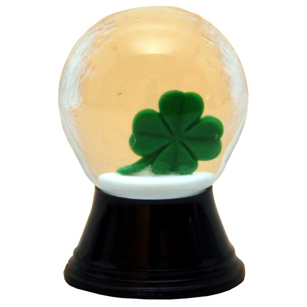Perzy 4 Leaf Clover Snow Globe by The Holiday Aisle