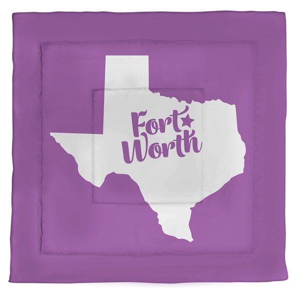 Texas Fort Worth Single Reversible Comforter