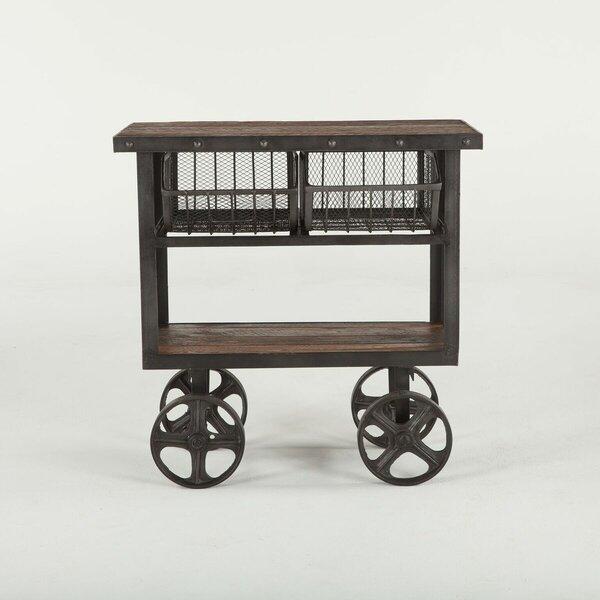 Tabron Reclaimed Teak Bar Cart by Gracie Oaks Gracie Oaks