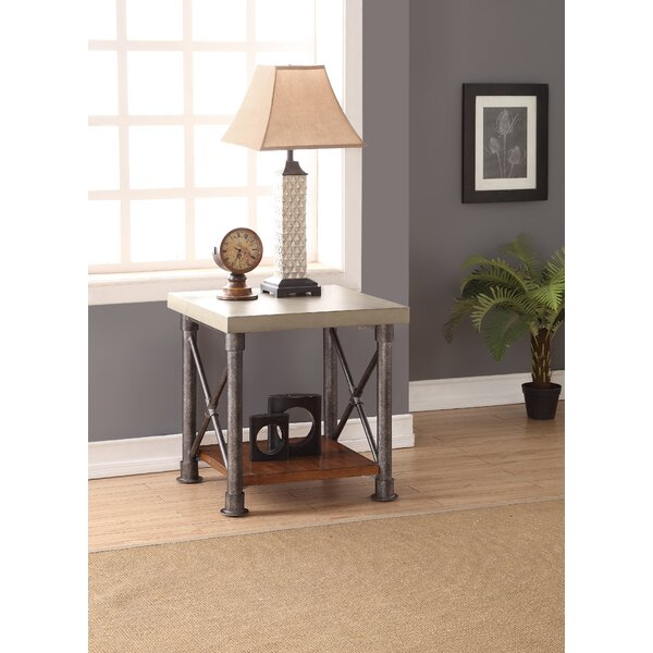 Perei End Table By 17 Stories Cheap