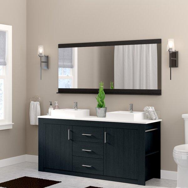 Glen Ridge 72 Double Bathroom Vanity Set with Mirror
