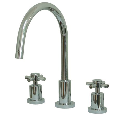 South Beach Double Cross Handle Widespread Kitchen Faucet by Elements of Design