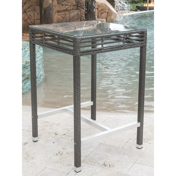 Graphite Glass Bar Table by Panama Jack Outdoor Panama Jack Outdoor