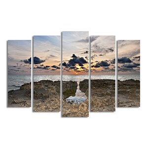 'Sunset Rock' by Bruce Bain 5 Piece Photographic Print on Wrapped Canvas Set by Ready2hangart