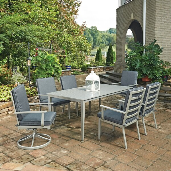 Dinan 7 Piece Dining Set with Cushion by Red Barrel Studio