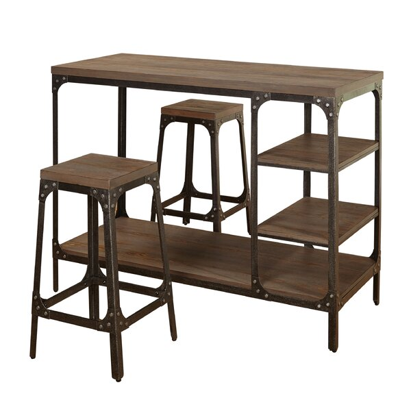 Terence 3 Piece Breakfast Nook Dining Set by Williston Forge Williston Forge