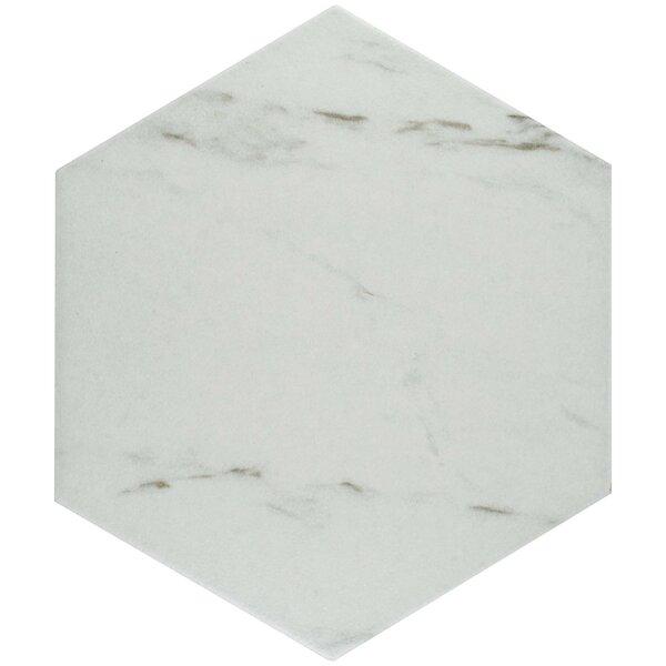 Marbre Carrara 8.63 x 9.88 Porcelain Mosaic Tile in White by EliteTile
