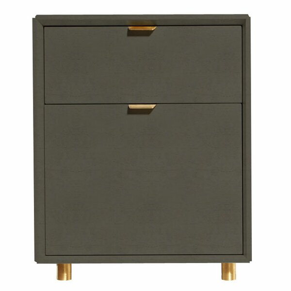 Dang 2 Drawer File Cabinet by Blu Dot