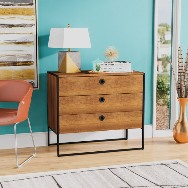 Ibrahim 3 Drawer Bachelors Chest by Langley Street™