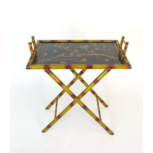Aguayo Hand Painted Bamboo Serving Table Tray by Bloomsbury Market