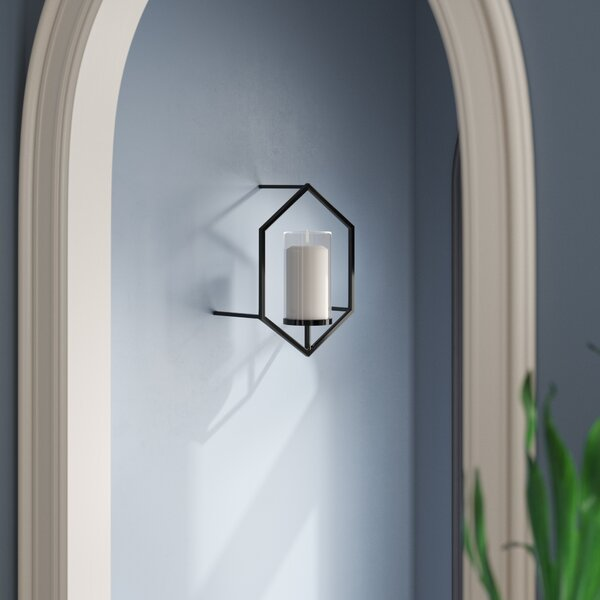 Hexagon Metal Sconce by Bloomsbury Market
