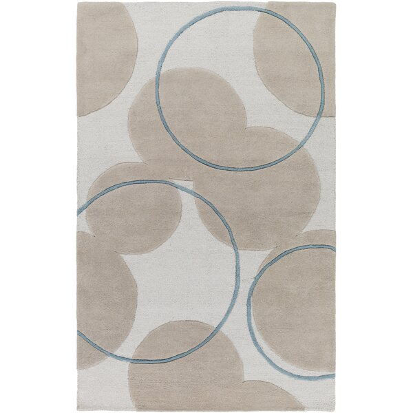 Labarbera Hand-Tufted Beige/Teal Area Rug by Latitude Run