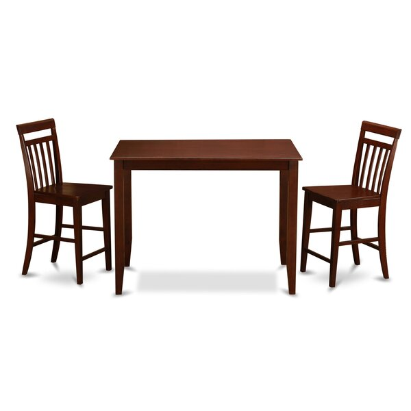 Best Design Buckland 3 Piece Counter Height Dining Set By East West Furniture Great Reviews