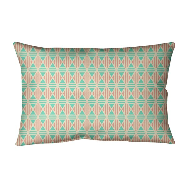 Avicia Lined Diamonds Indoor/Outdoor Lumbar Pillow