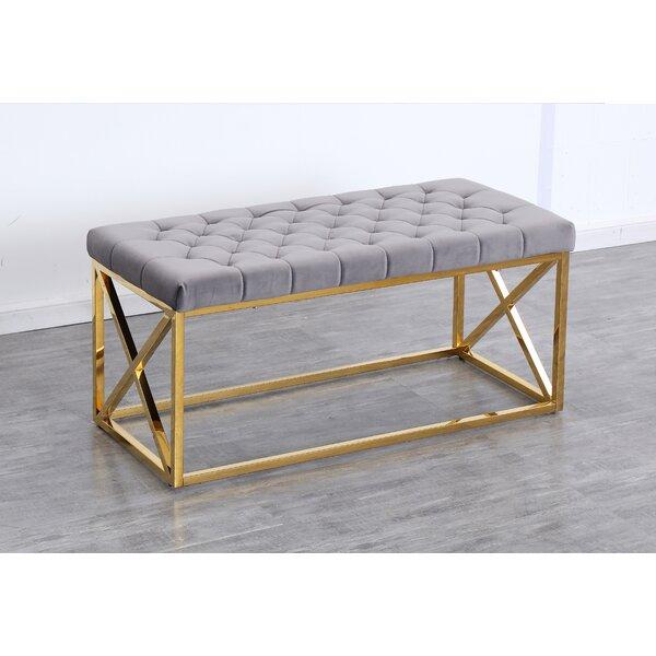 Genoa Velvet Upholstered Bench by Mercer41