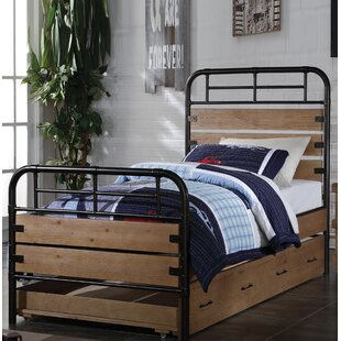 Affordable May Twin Panel Bed with Trundle ByHarriet Bee