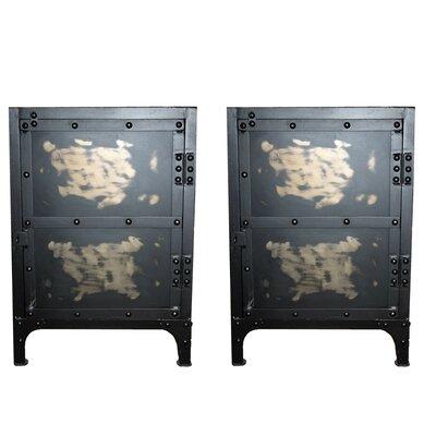 simple metal nightstands metal nightstands youll love wayfairca