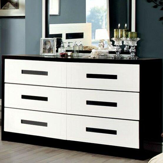 Carranza 6 Drawer Double Dresser by Orren Ellis