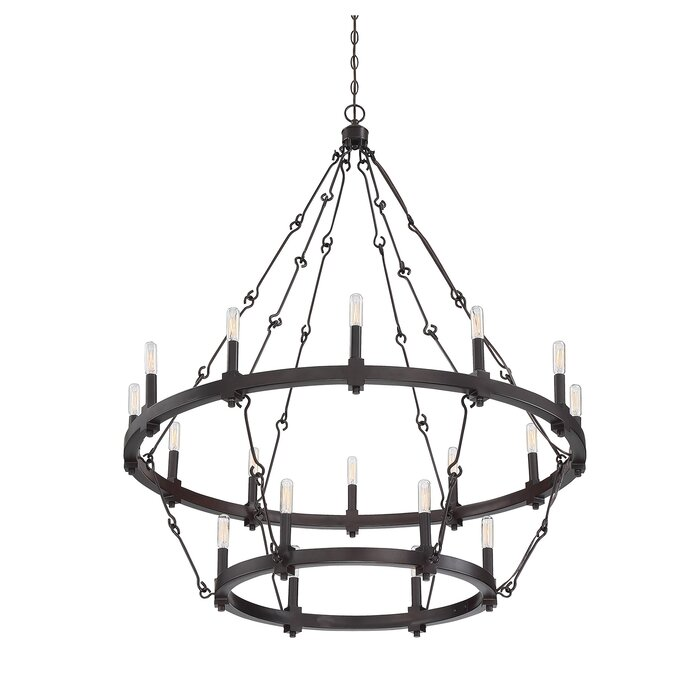 Laurel foundry modern farmhouse montreal 18 light candle style montreal 18 light candle style chandelier mozeypictures Gallery