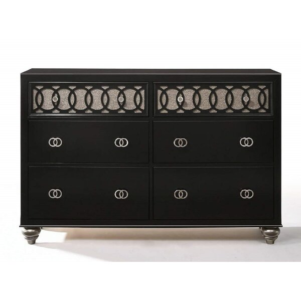 Marius 6 Drawer Double Dresser by Rosdorf Park