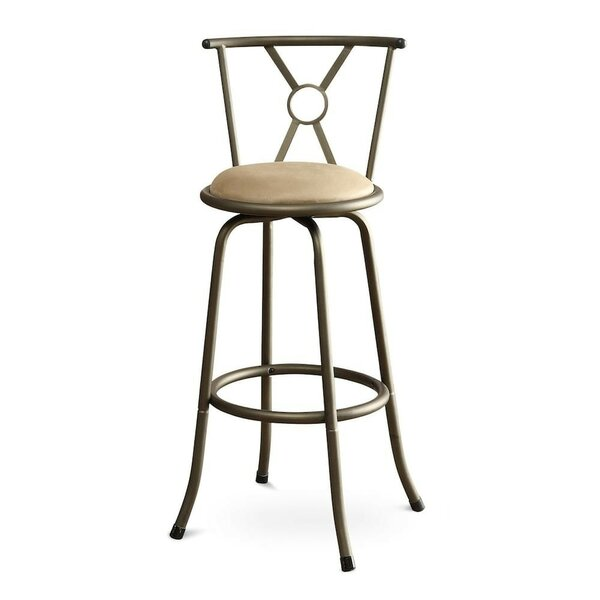 Girton Adjustable Height Swivel Bar Stool (Set of 2) by Fleur De Lis Living