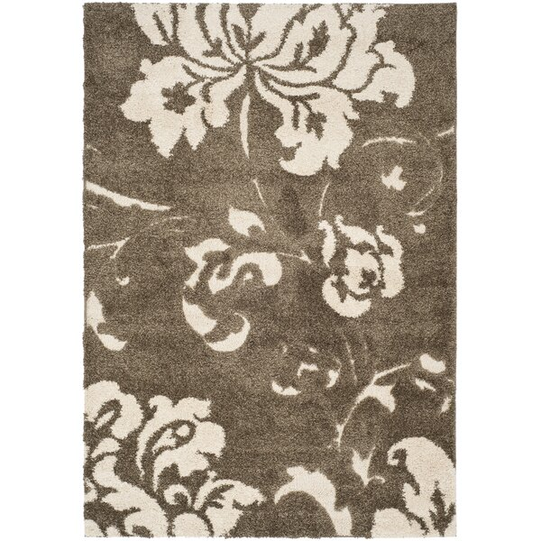 Flanery Dark Beige Area Rug by House of Hampton