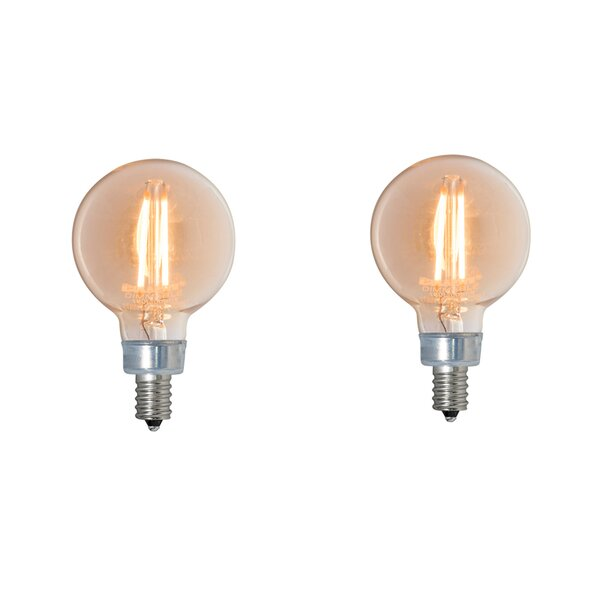 2.5W E12 Dimmable LED Globe Light Bulb (Set of 2) by Bulbrite Industries
