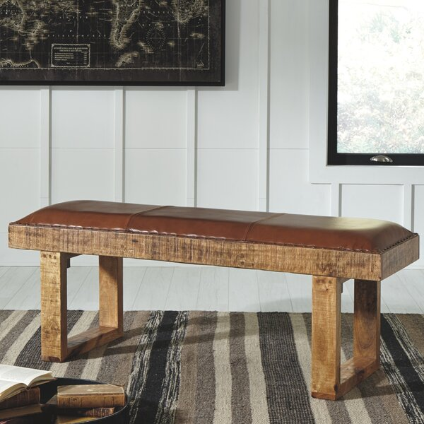 Brinker Accent Wood Bench by Union Rustic