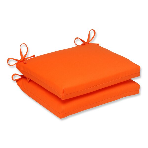 Sundeck Indoor/Outdoor Seat Cushion (Set of 2) by Pillow Perfect