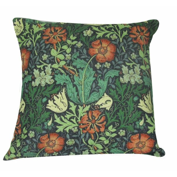 William Morris Flower Throw Pillow Cover by Golden Hill Studio