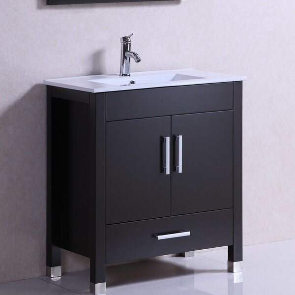Modern Freestanding 30 Single Bathroom Vanity Set by Belvedere Bath