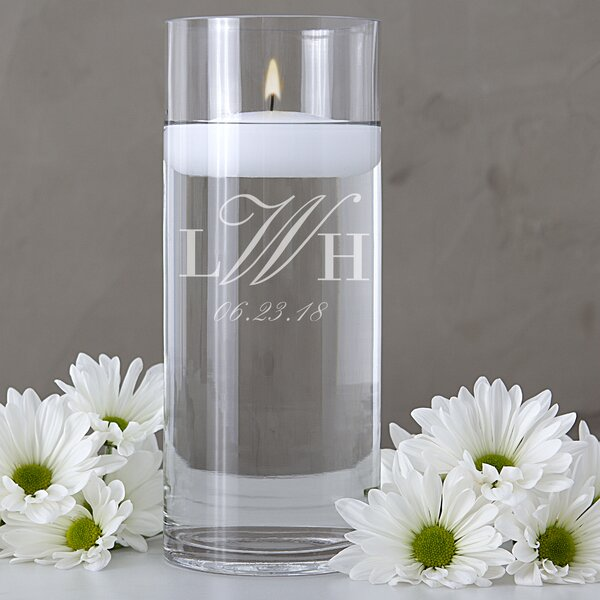 Personalized Wedding Monogram Floating Unity Candle by Cathys Concepts