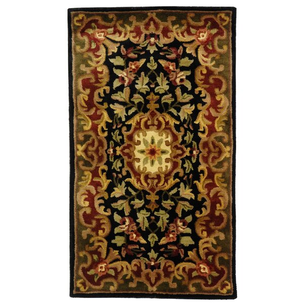 Classic Black/Green Rug by Safavieh