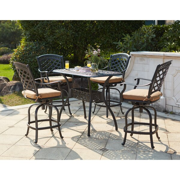 Lenahan 5 Piece Dining Set with Cushions