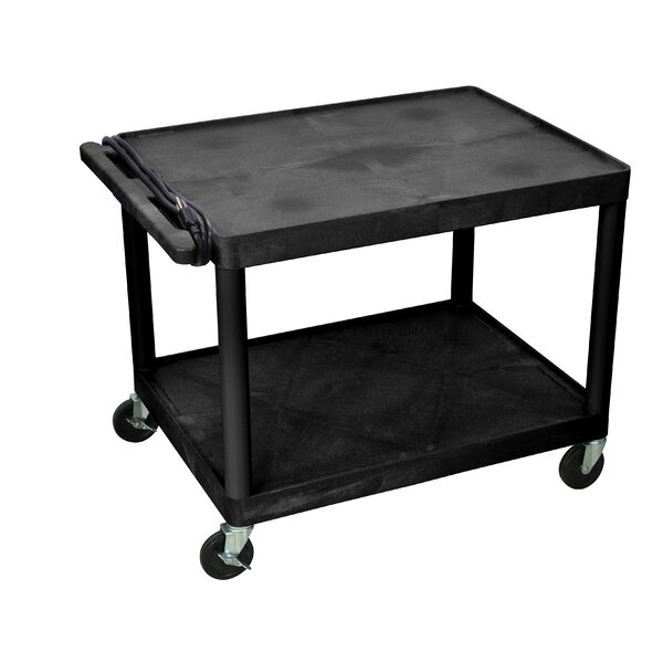 LP Carts Series Open Shelf TV Cart by Luxor