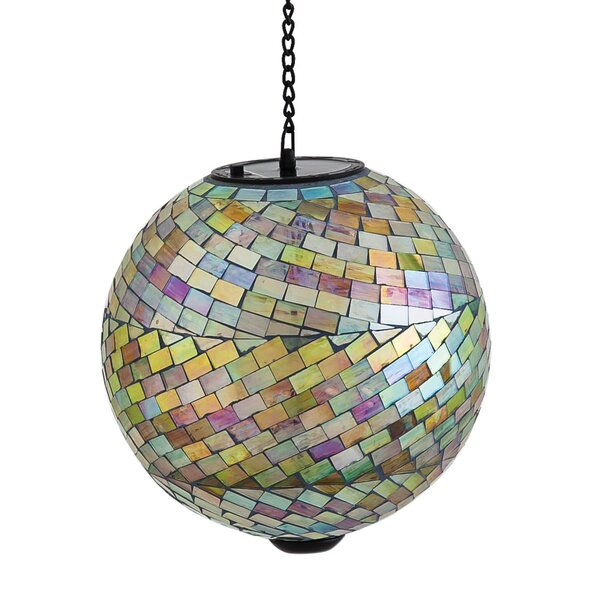 Romano Mosaic Hanging Solar Gazing Ball by Bloomsbury Market