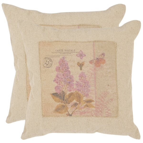 Joey Linen Throw Pillow (Set of 2) by Safavieh