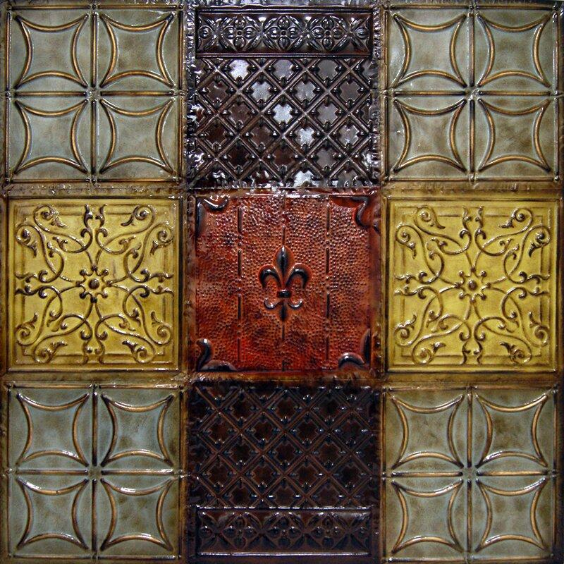 Tin Wall Decor hdc international metal nine patch tin wall decor & reviews | wayfair
